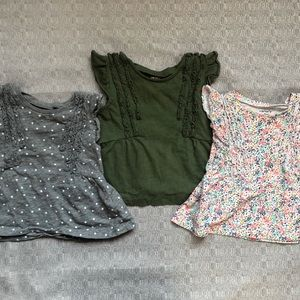 CARTERS - Baby Girl Set Fall Shirts 9 Months